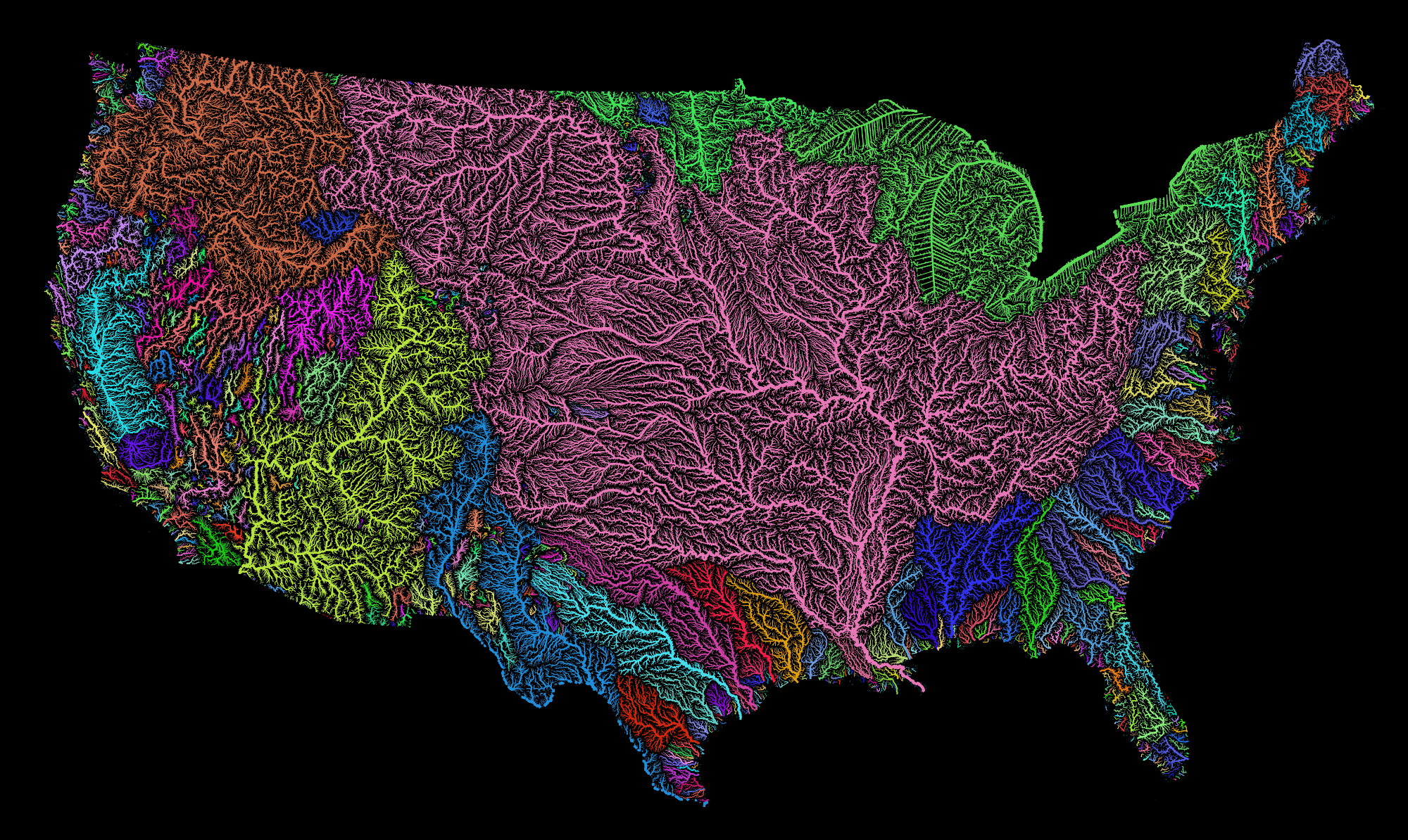 US and SE Watershed Maps